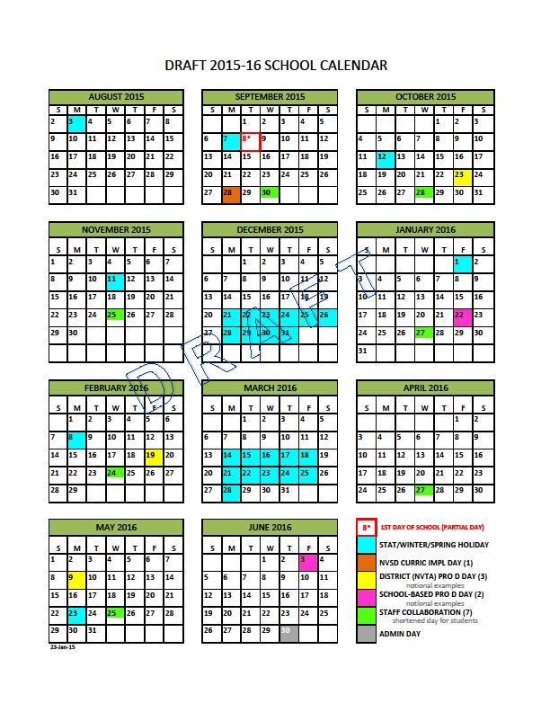 Vancouver School District Calendar 2017   Calendar 2017