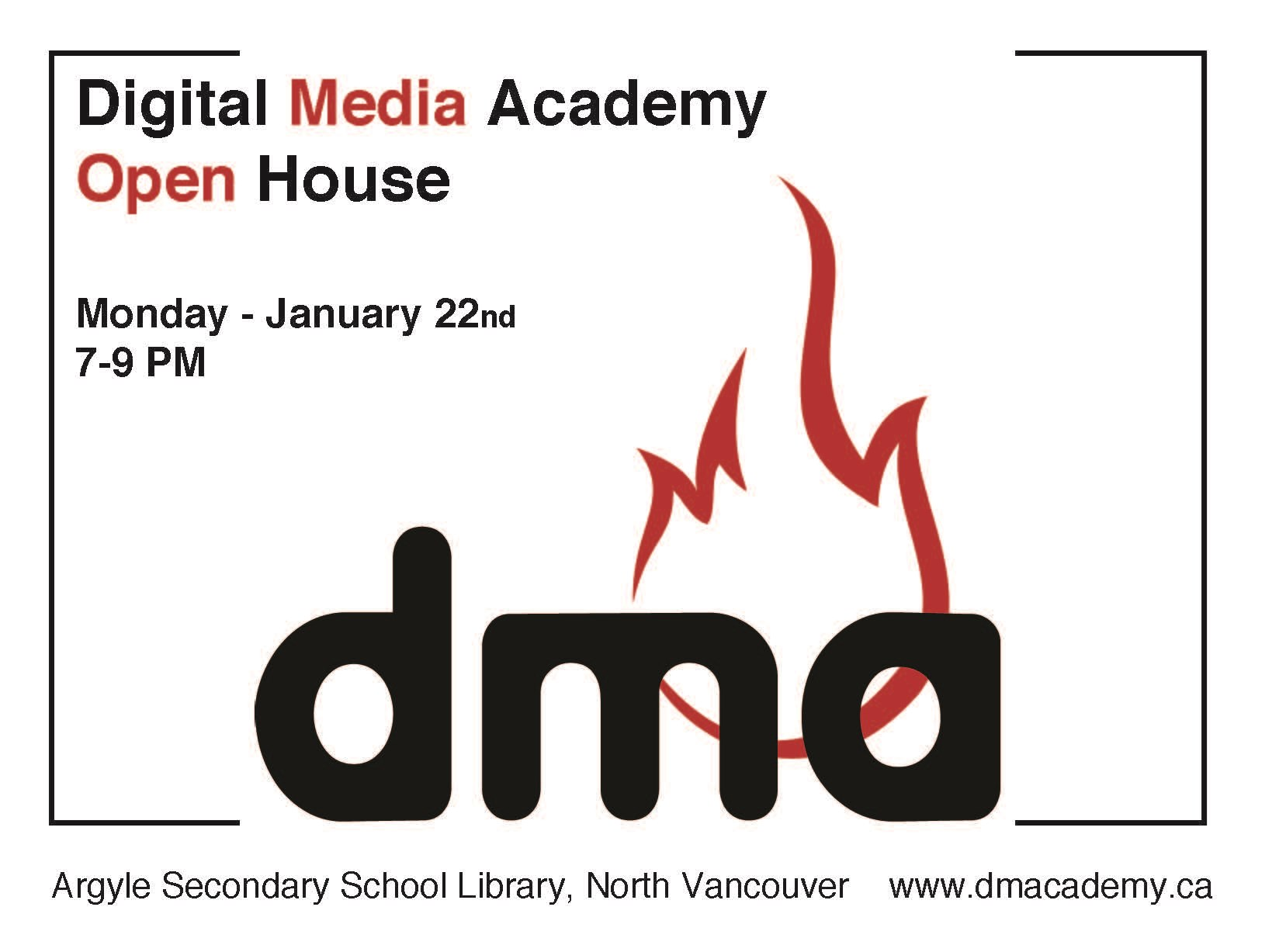 DMA Info Night and Open House
