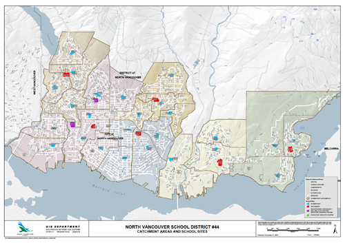 District Map  North Vancouver School District