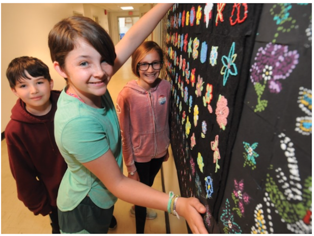 Boundary students strengthen bond through Indigenous art project