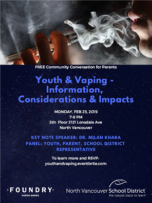 Youth & Vaping Information, Consideration & Impacts