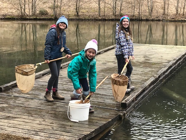 Finding Treasures in the Pond at Outdoor School