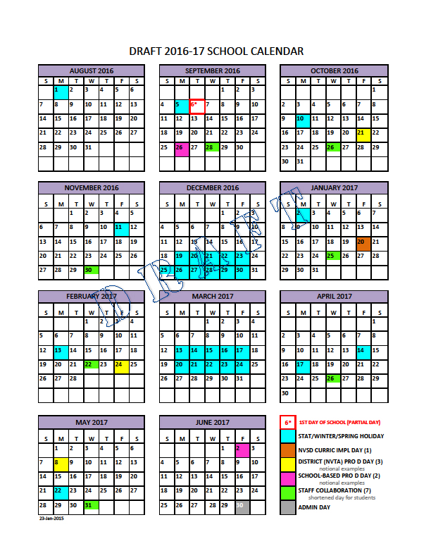 school calendar steering group north vancouver school district