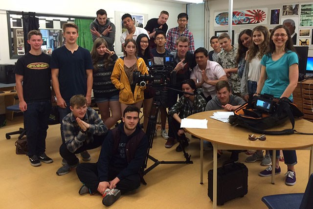 Local Music Video Director and Director of Photography visits Film class