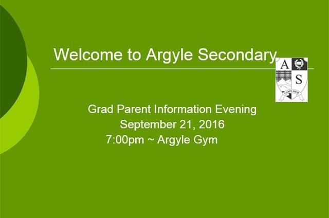 Grad Parent Night Presentation