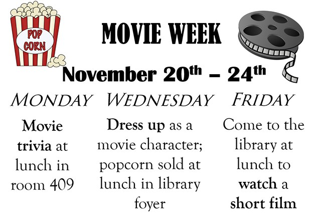 Student Council Invites You to Movie Week!