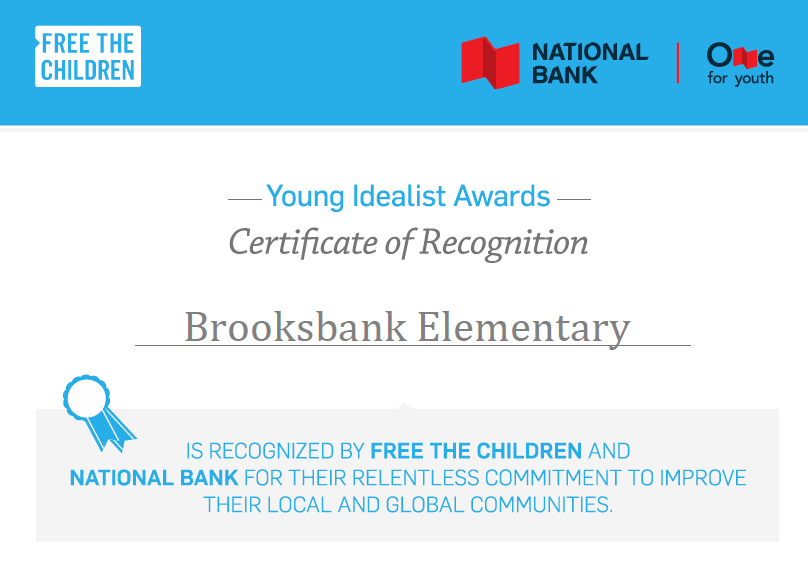 Brooksbank Elementary Recognized