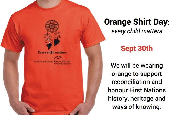 Orange Shirt Day - Friday, September 30th.