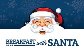 Santa's Breakfast 7 am Fri. Dec. 16th Donations of  $5 or more to the Harvest Project