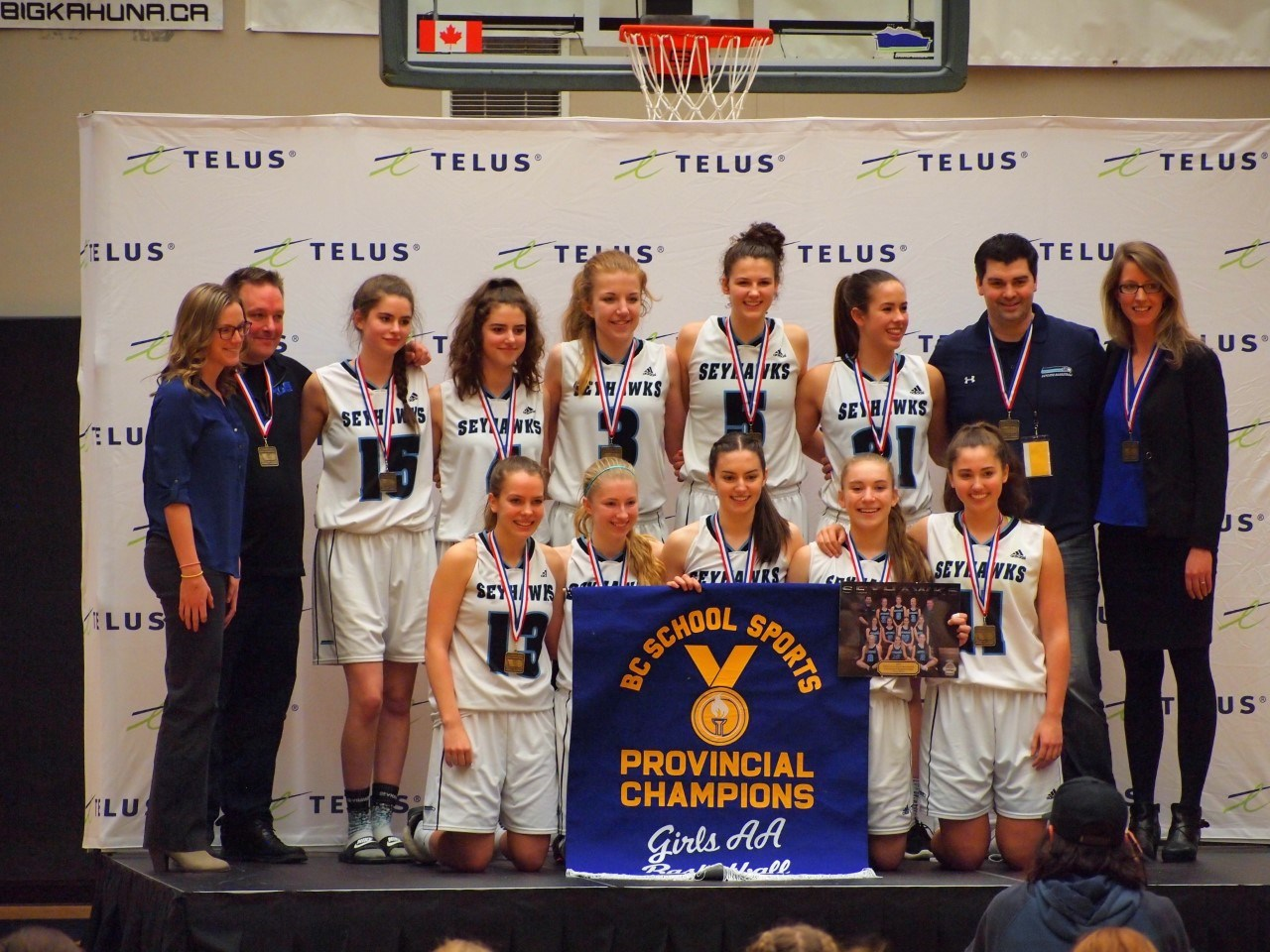 The Sr. Girls Basketball team are Provincial Champions